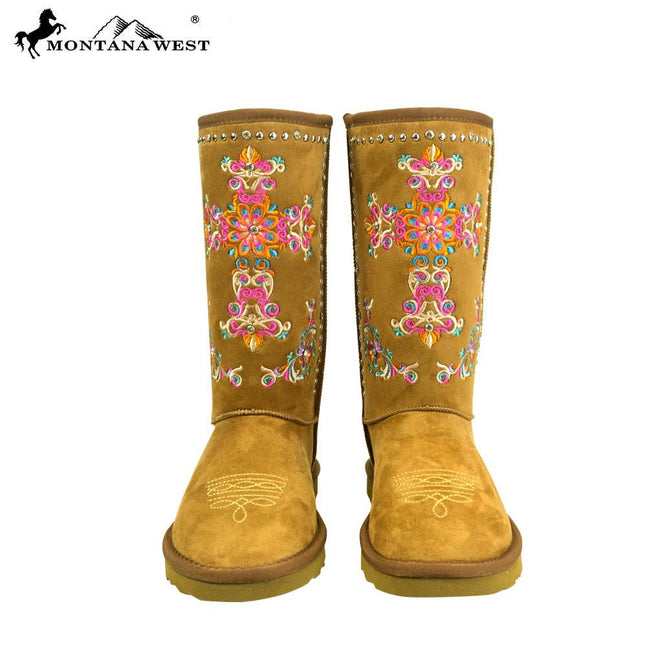 BST-033  Montana West Embroidered Collection Boots Black