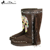 BST-106 Montana West Sugar Skull Collection Boots By Case