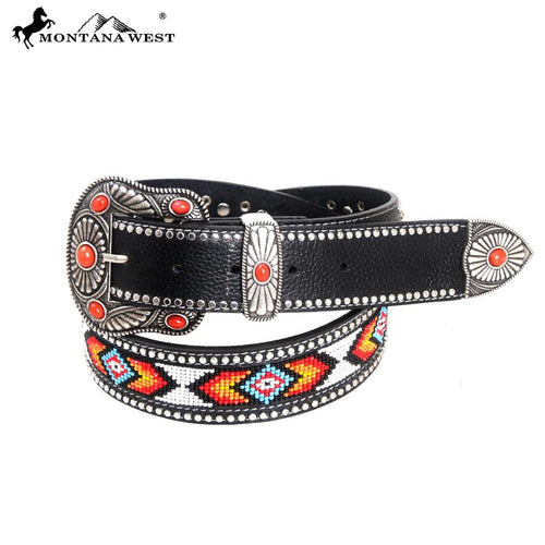 BT-022 Montana West Western Aztec Hand Beaded Collection Belt