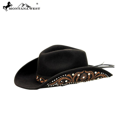 CHT-9008 Montana West Cowgirl Collection Hat -Coffee-Large