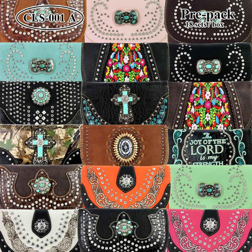 CLS-001A  American Bling Clutch Pre-Pack Set (18pcs)