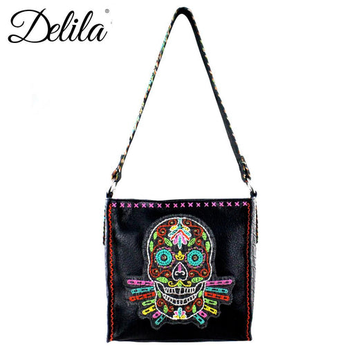 CLT-631S Delila 100% Genuine Leather Hand Embroidered Collection Mini Tote
