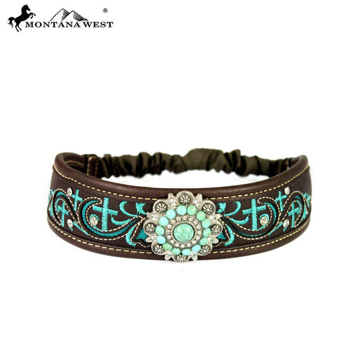 HB-021 Montana West Embroidered Collection Headband