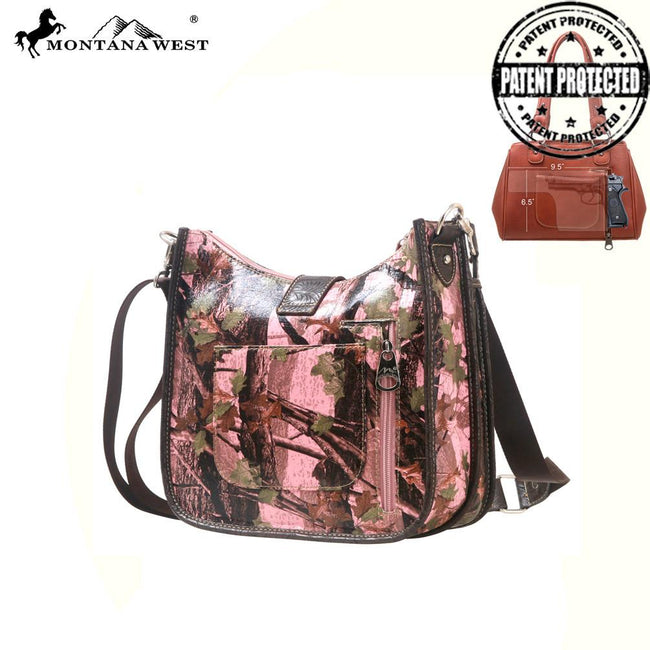 HF02G-8392 Montana West Concealed Handgun Camo Collection Messenger Bag