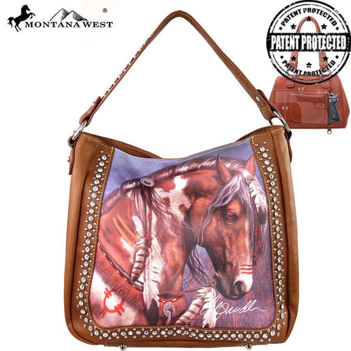 MW156G-8256 Montana West Horse Art Concealed Handgun Handbag-Laurie Prindle Collection