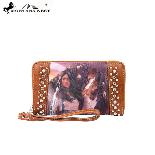 MW170-W003 Montana West Horse Art Wallet-Laurie Prindle Collection