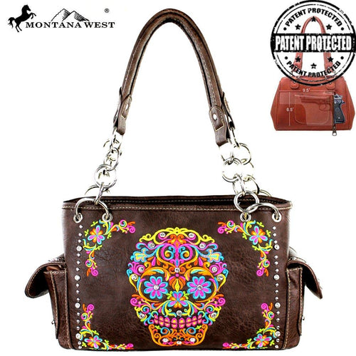 MW326G-8085 Montana West Sugar Skull Collection Satchel