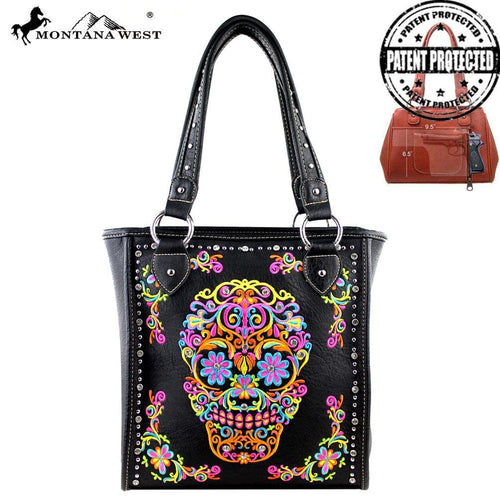 MW326G-8113 Montana West Sugar Skull Collection Concealed Handgun Tote