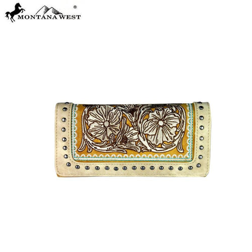 MW337-W002 Montana West Embroidered Collection Wallet