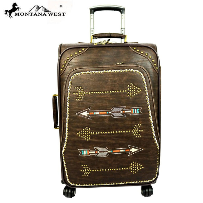 MW358-L1/2/3 Montana West Arrow Collection 3 PC Luggage Set -Coffee
