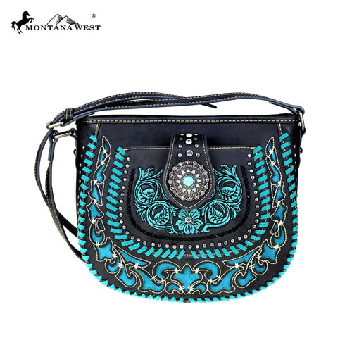 MW424-8360 Montana West Concho Collection Crossbody Bag