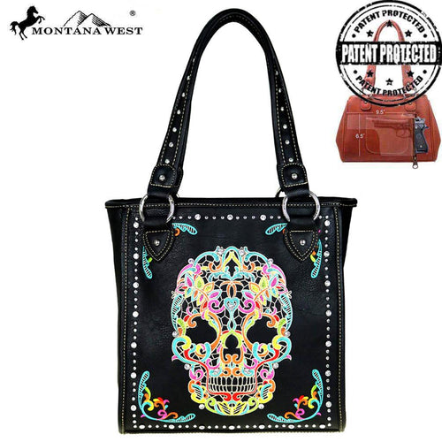 MW494G-8113 Montana West Sugar Skull Collection Concealed Handgun Tote