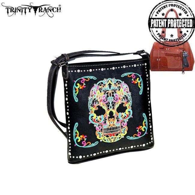MW494G-8287 Montana West Sugar Skull Collection Concealed Handgun Crossbody