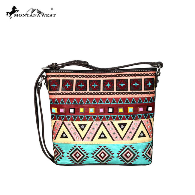MW553-8300 Montana West Embroidered Collection Crossbody