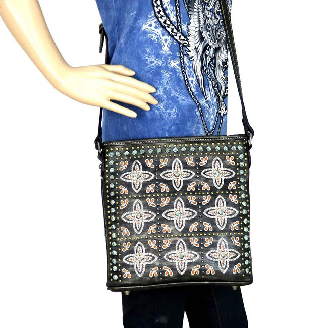 MW579P-8300 Montana West Embroidered Collection Phone Charging Crossbody