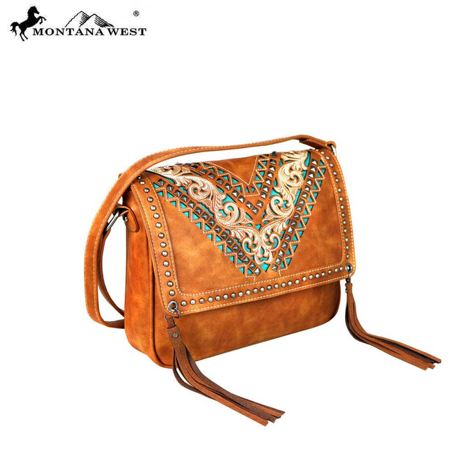 MW580-8360  Montana West Embroidered Collection Crossbody
