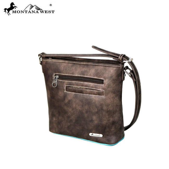 MW584-8300 Montana West Concho Belt-Buckle Collection Crossbody Bag
