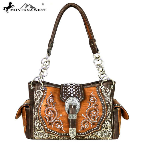 MW586-8085 Montana West Buckle Collection Satchel