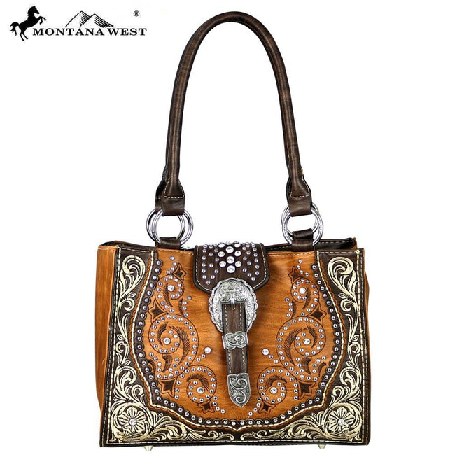 MW586-8566 Montana West Buckle Collection Tote