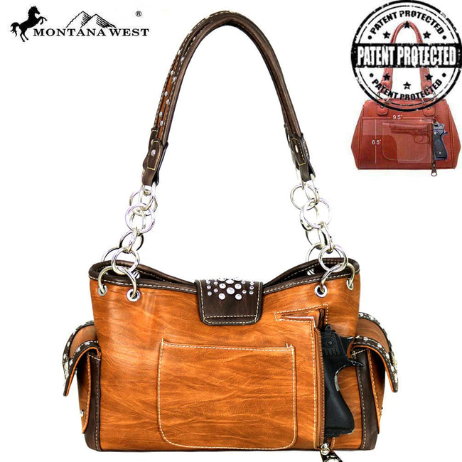 MW586G-8085 Montana West Buckle Collection Concealed Handgun Satchel