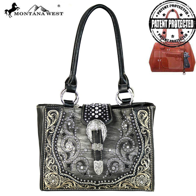 MW586G-8566 Montana West Buckle Collection Concealed Handgun Tote