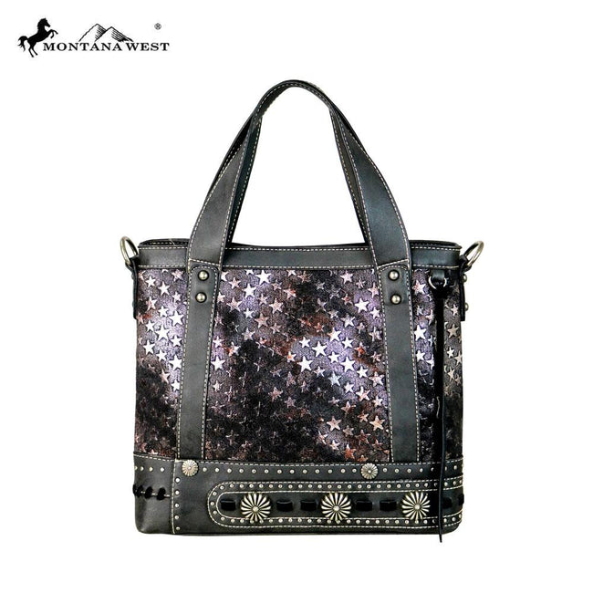 MW589-8300 Montana West Concho Collection Tote/Crossbody