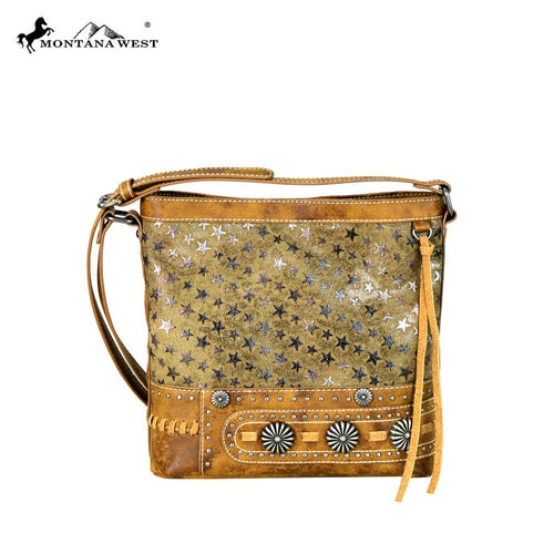 MW589-8360 Montana West Concho Collection Crossbody Bag
