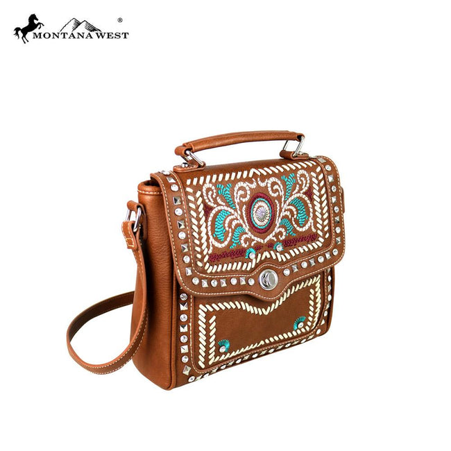 MW594-8102 Montana West Embroidered Collection Top Handle Crossbody