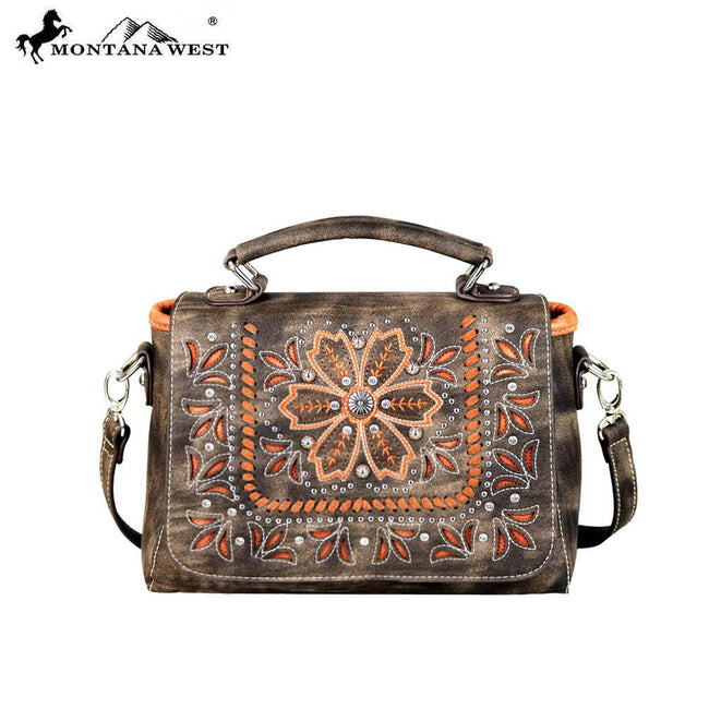 MW595-8102 Montana West Embroidered Collection Top Handle Crossbody