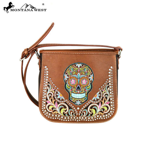 MW602-8360 Montana West Sugar Skull Collection Crossbody Bag