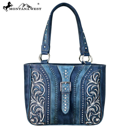 MW668G-918 Montana West Concho/Safari Collection Concealed Carry Hobo