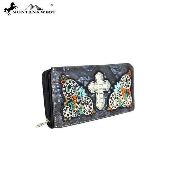 MW616-W010 Montana West Spiritual Collection Secretary Style Wallet