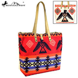 MW621-9317 Montana West American Native Collection Dual Sided Print Canvas Fabric Tote