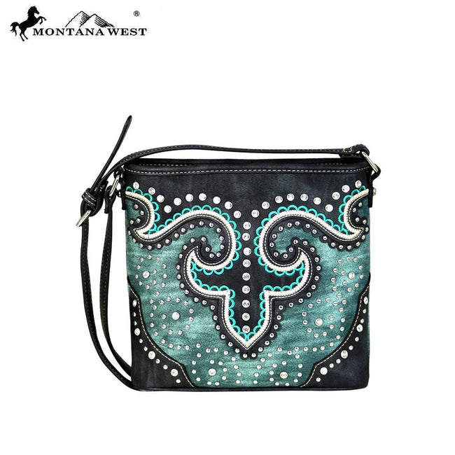 MW628-8360 Montana West Bling Bling Collection Messenger Bag