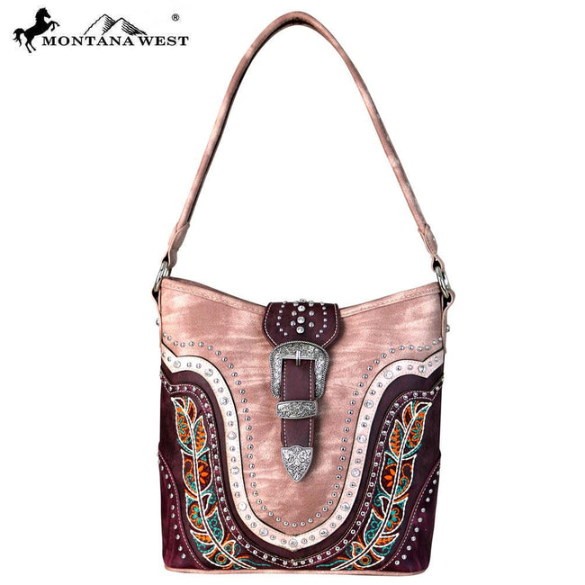 Montana West Buckle Collection Hobo Bag