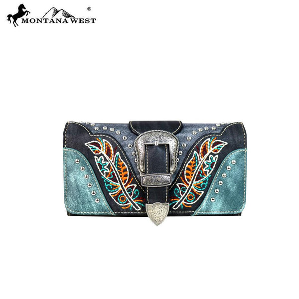 Montana West Buckle Collection Secretary Style Wallet BRAND NEW!