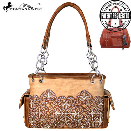 MW614-8085 Montana West Buckle Collection Satchel