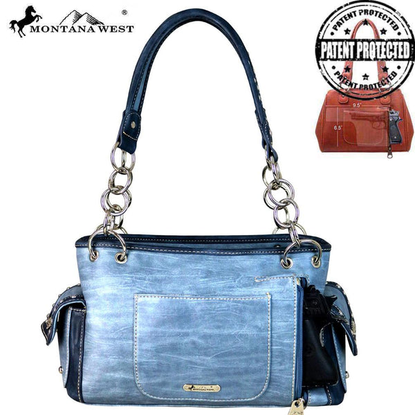 MW669G-8085 Montana West Embroidered Collection Concealed Carry Satchel
