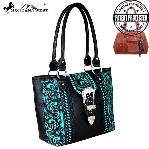 MW685G-8014 Montana West Buckle Collection Concealed Carry Tote
