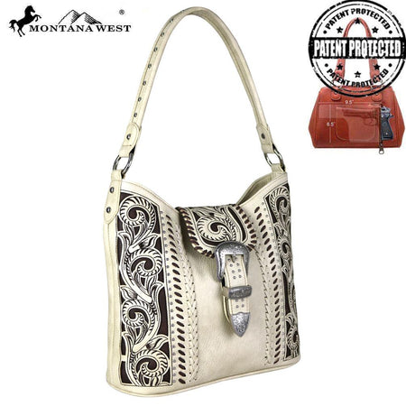 MW536G-8085 Montana West Buckle Collection Concealed Handgun Satchel Bag