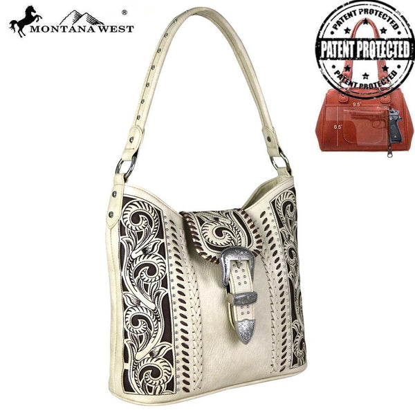 2f5bd158f117 MW685G-918 Montana West Buckle Collection Concealed Carry Hobo ...