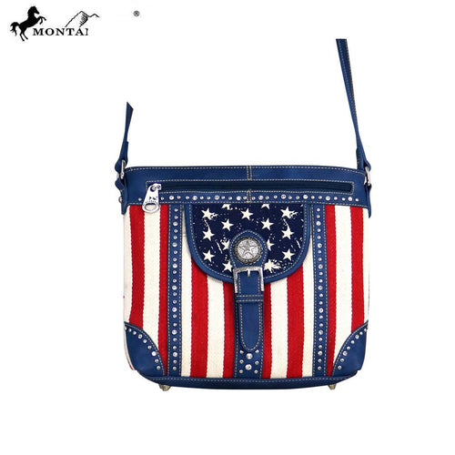 MW730-8360 Montana West American Pride Collection Messenger Bag