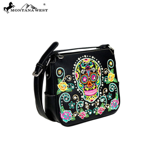 MW741-8287 Montana West Sugar Skull Collection Crossbody