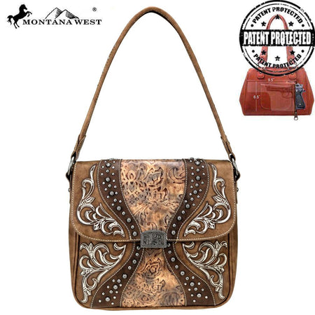 MW786G-8317 Montana West Embroidered Collection Concealed Carry Tote