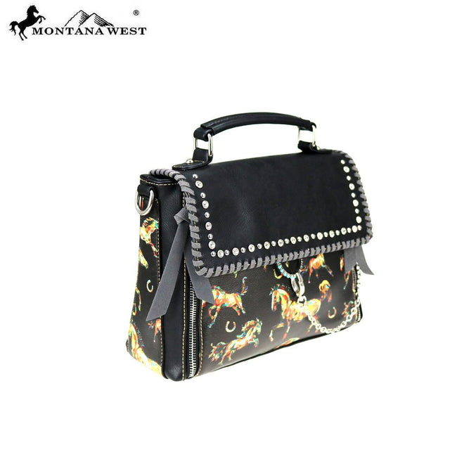 MW756-8262 Montana West Horse Collection Satchel/Crossbody