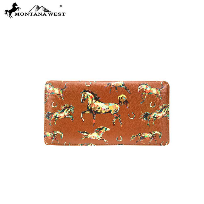 MW756-W010 Montana West Horse Collection Secretary Style Wallet