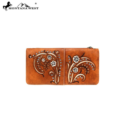 MW758-W021 Montana West Western Embroidered Collection Wallet