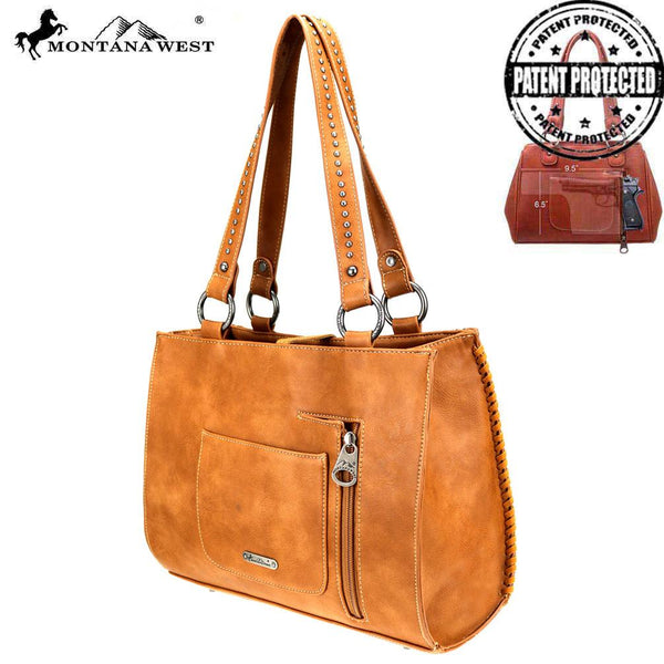 MW760G-8394 Montana West Tooled Collection Concealed Carry Tote