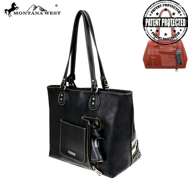 MW762G-8317 Montana West Concho Collection Concealed Carry Tote