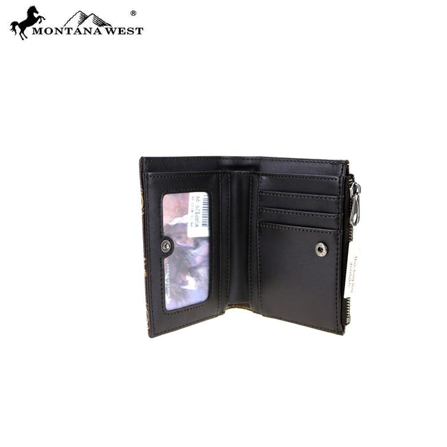 MW776-W030 Montana West Western Medium Corner Zip Wallet